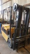 CATERPILLAR / CAT 1.75 TONNE RATED BATTERY FORKLIFT TRUCK, CONTAINER SPEC 3 STAGE MAST WITH CHARGER.
