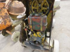HANDLE START DIESEL SITE MIXER C/W HANDLE, WHEN TESTED WAS SEEN TO RUN AND DRUM TURNED