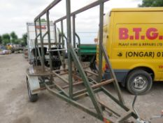 HITCH AND LIFT SINGLE AXLED COILED PIPE TRAILER