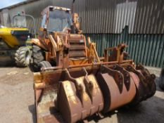 CASE CONSTRUCTION KING 580G BACKHOE LOADER, 6NO REAR BUCKETS, FRONT 4IN1 BUCKET, EXTENDING