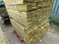 2 LARGE PACKS OF FEATHER EDGE TIMBER CLADDING 1.5Mx10CM