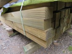 1 LARGE PACK OF TREATED TIMBER, 5.5CMx7CM, 2.7M LENGTH, APPROX 91 PIECES IN TOTAL