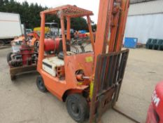 TOYOTA GAS FORKLIFT ON SOLID TYRES