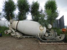MIXER DRUM, RECENTLY REMOVED C/W SHAFT DRIVEN HYDRAULIC PUMP