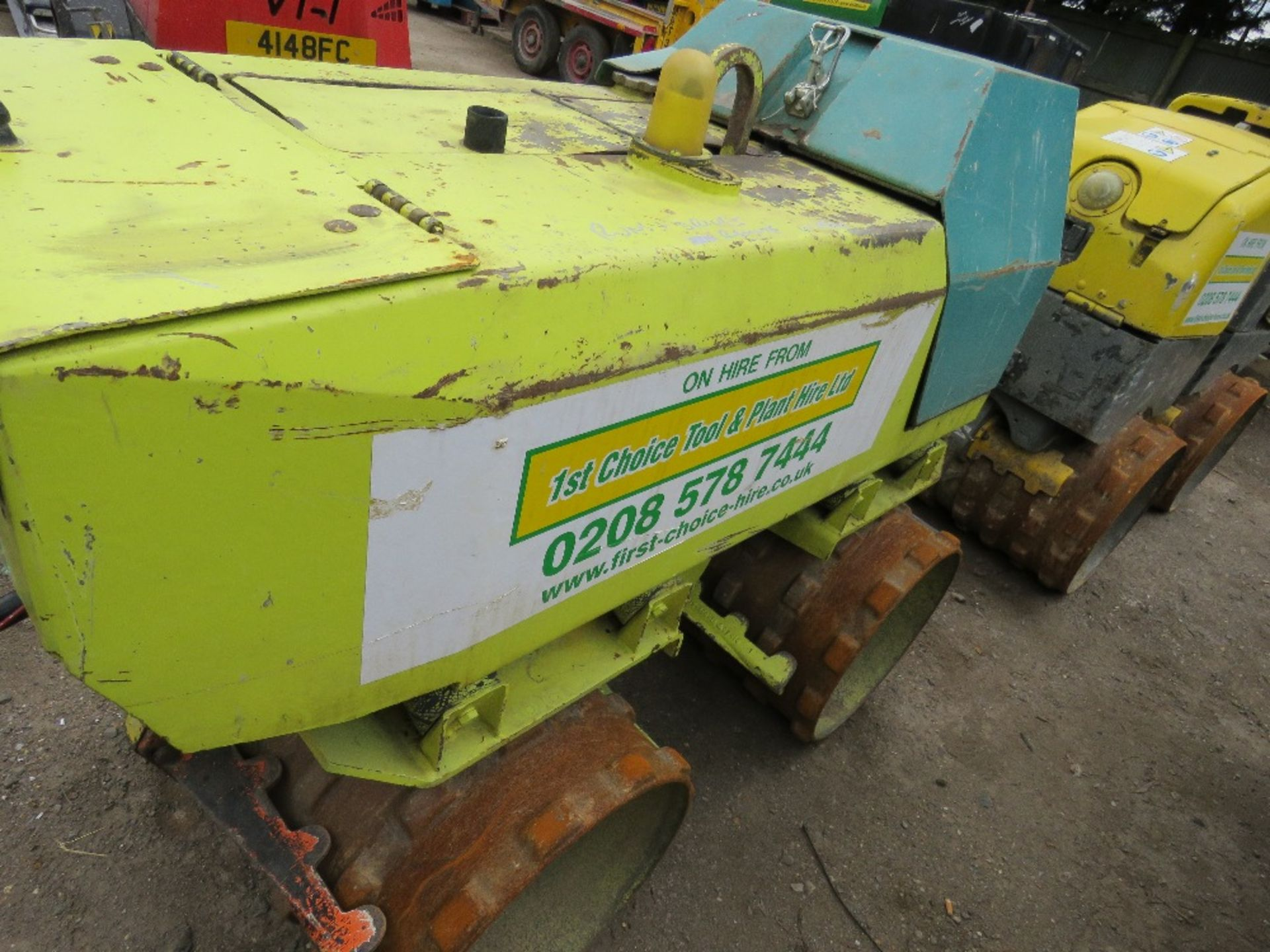 Lot 51 - RAMMAX AMMANN DOUBLE DRUM TRENCH ROLLER PN: 3008FC WHEN TESTED WAS SEEN TO DRIVE AND VIBE, REMOTE IN