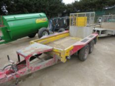 Ifor Williams mini digger trailer c/w full width ramp PN:MRT33 YEAR 2011, direct from company