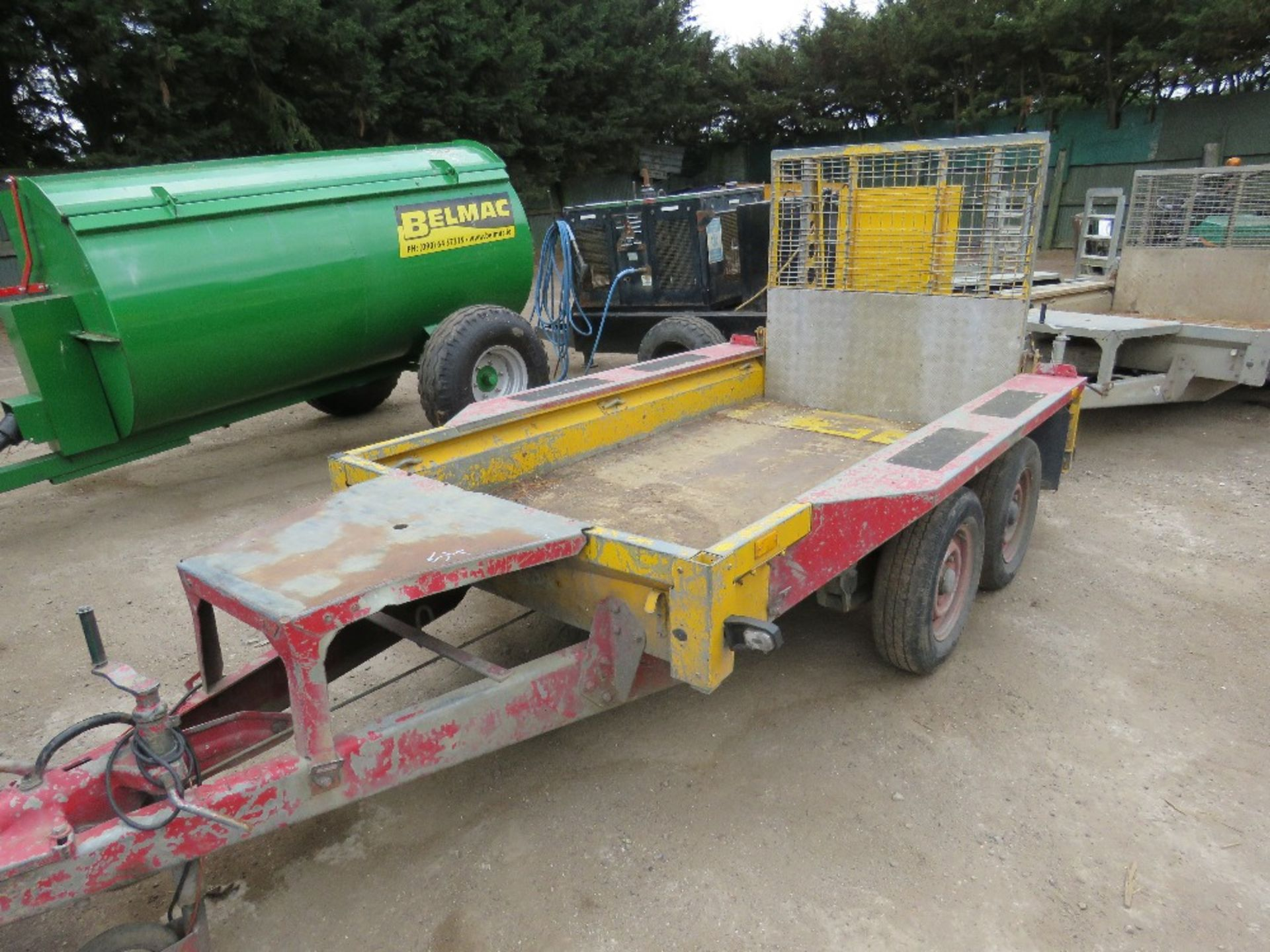Lot 54 - Ifor Williams mini digger trailer c/w full width ramp PN:MRT33 YEAR 2011, direct from company