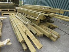 3X PALLETS OF ASSORTED FENCES, TIMBERS AND POSTS