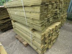 2 LARGE PACKS OF FEATHER EDGE TIMBER CLADDING 1.8Mx10CM