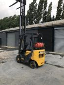 DAEWOO G15S-2 GAS POWERED FORKLIFT TRUCK WITH 3 STAGE MAST, WITH FREE LIFT, YEAR 2004, 1500KG