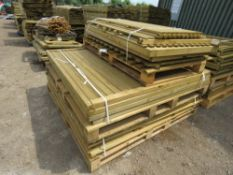 STACK OF ASSORTED FENCE PANNELS