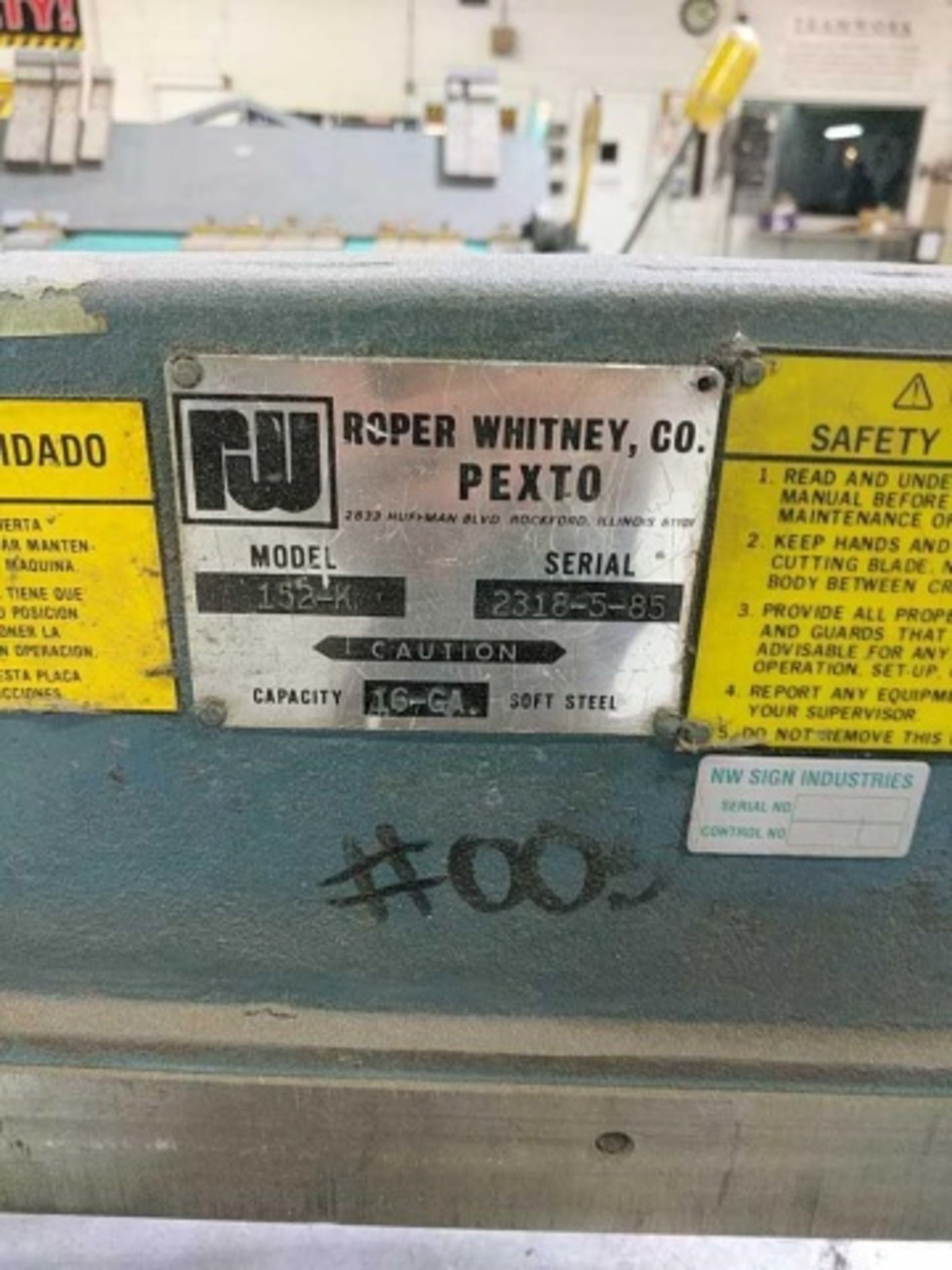 Lot 102 - Pexto 152-K Foot Shear