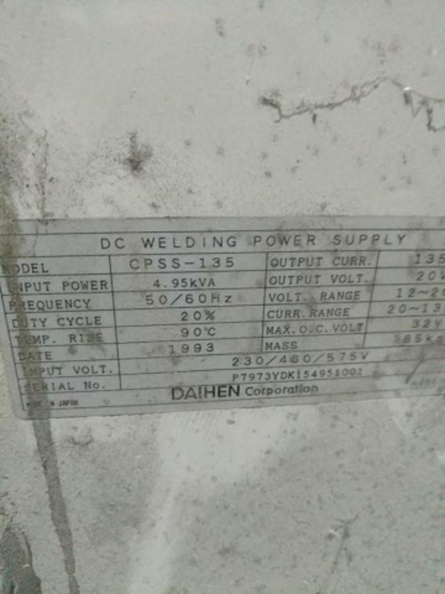 Daihen OTC Mig135 model CPSS-135 DC Power Source - Image 3 of 3