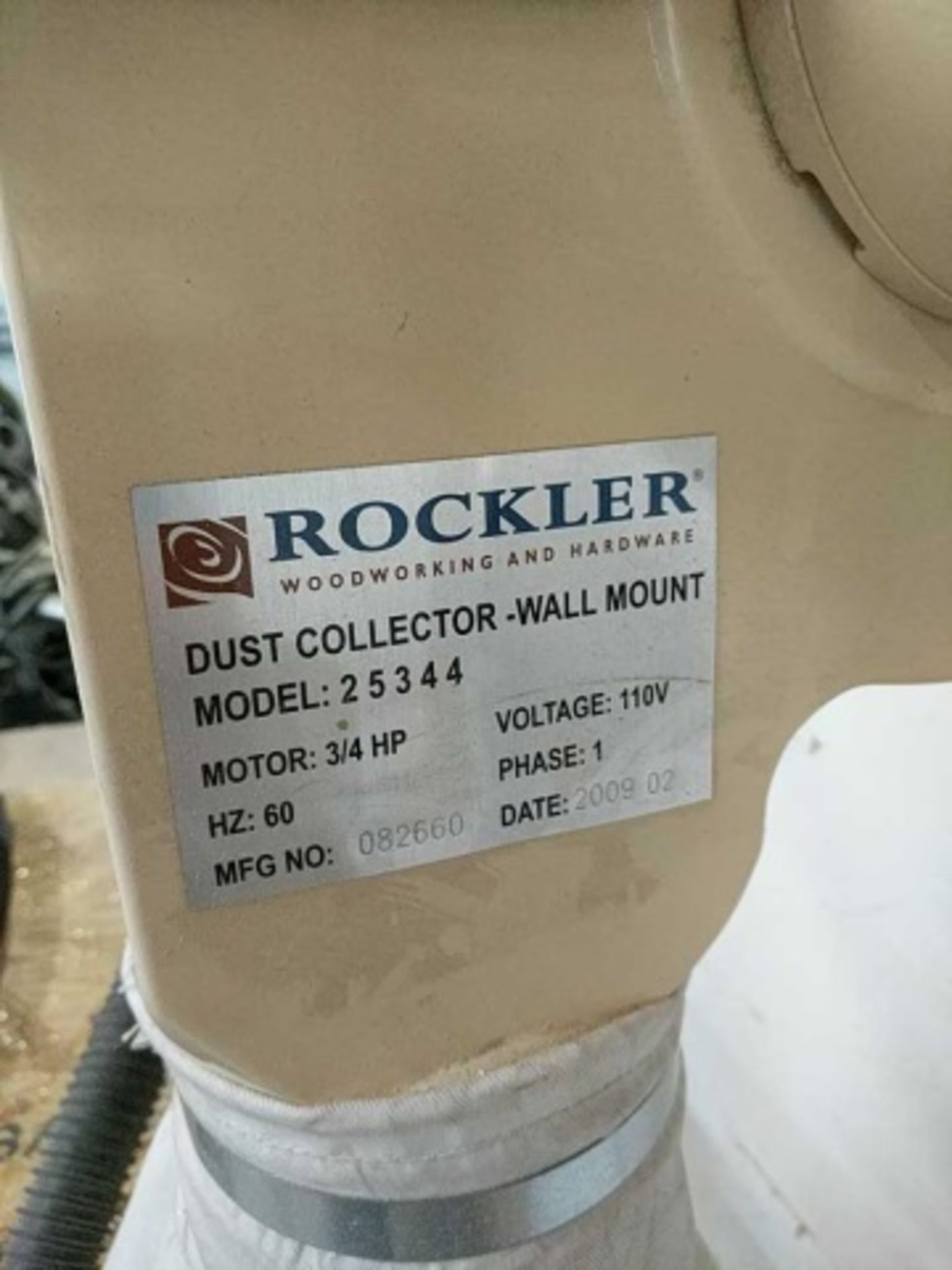Rockler 25344 Dust Collector - Image 2 of 4