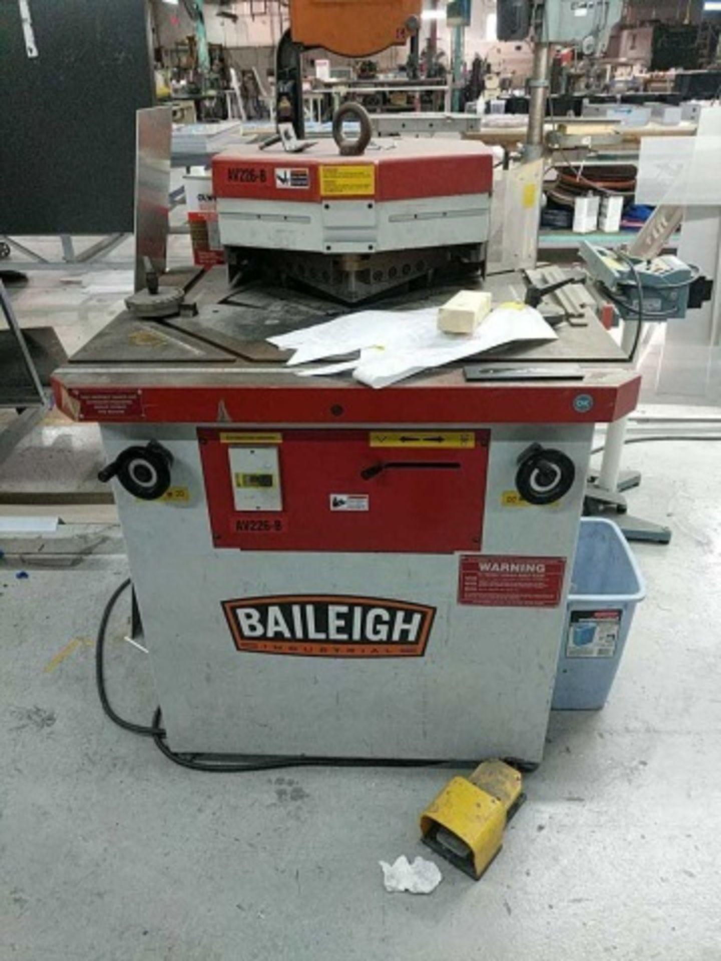 Lot 124 - Baileigh AV226-B Av-B Power Corner Notcher