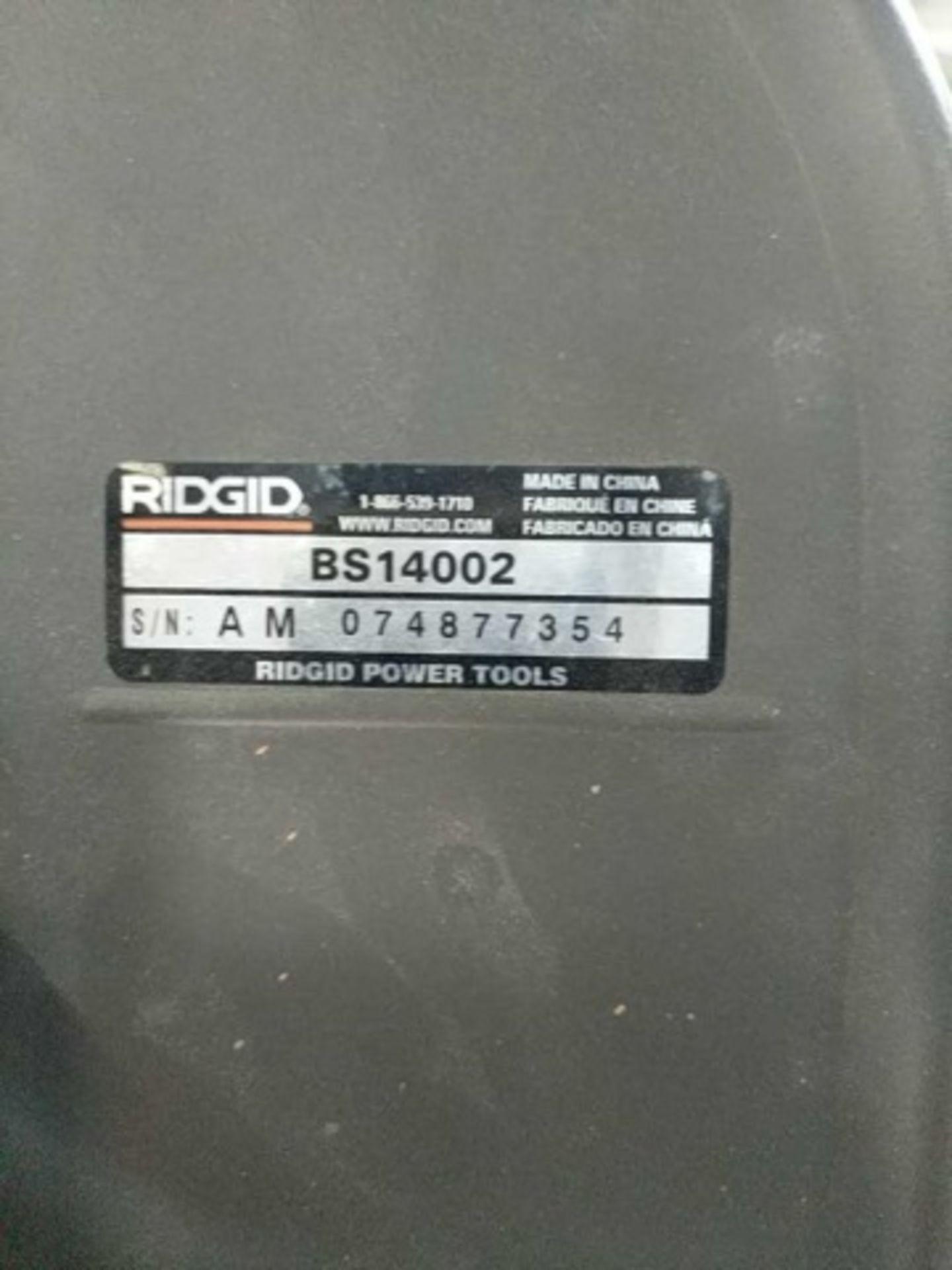 Lot 123 - Ridgid Bs14002 Vertical Bandsaw