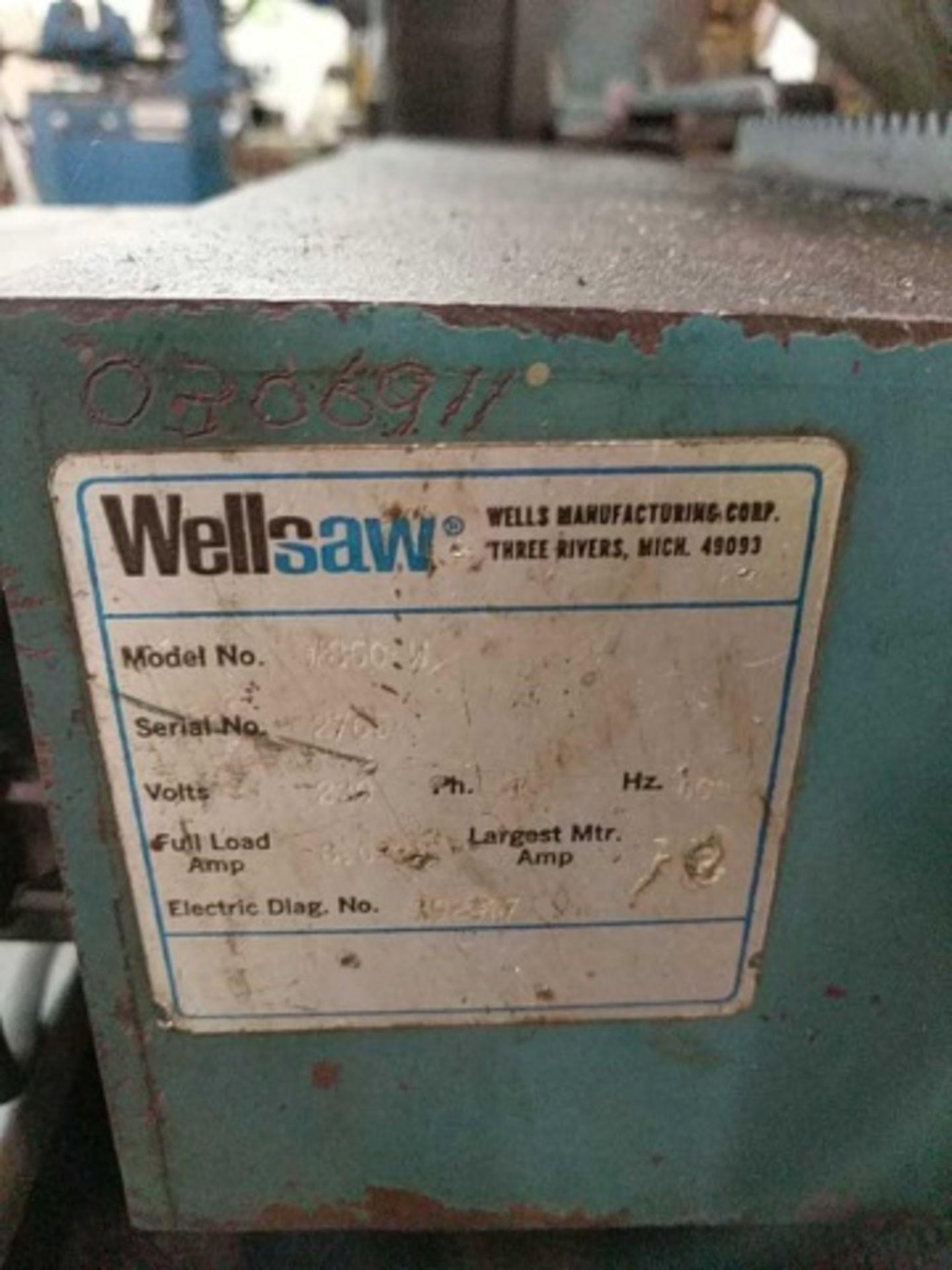 Lot 107 - Wellsaw 850 Horizontal Bandsaw