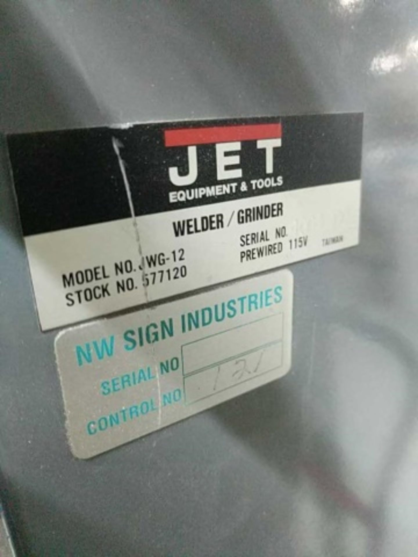 Lot 126 - Jet JWG-12 Welder/Grinder