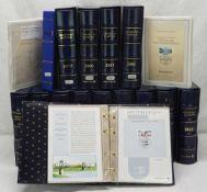 BRD Sammlung Ersttagsblätter15 Alben, 1995, 1997 und 2000 bis 2012, Ringbindersets der Deutschen