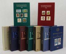 Briefmarken BRD Jahressammlung1980, 1981, 1991, 1994 - 1998, 1998 insgesamt neun Bücher, meist