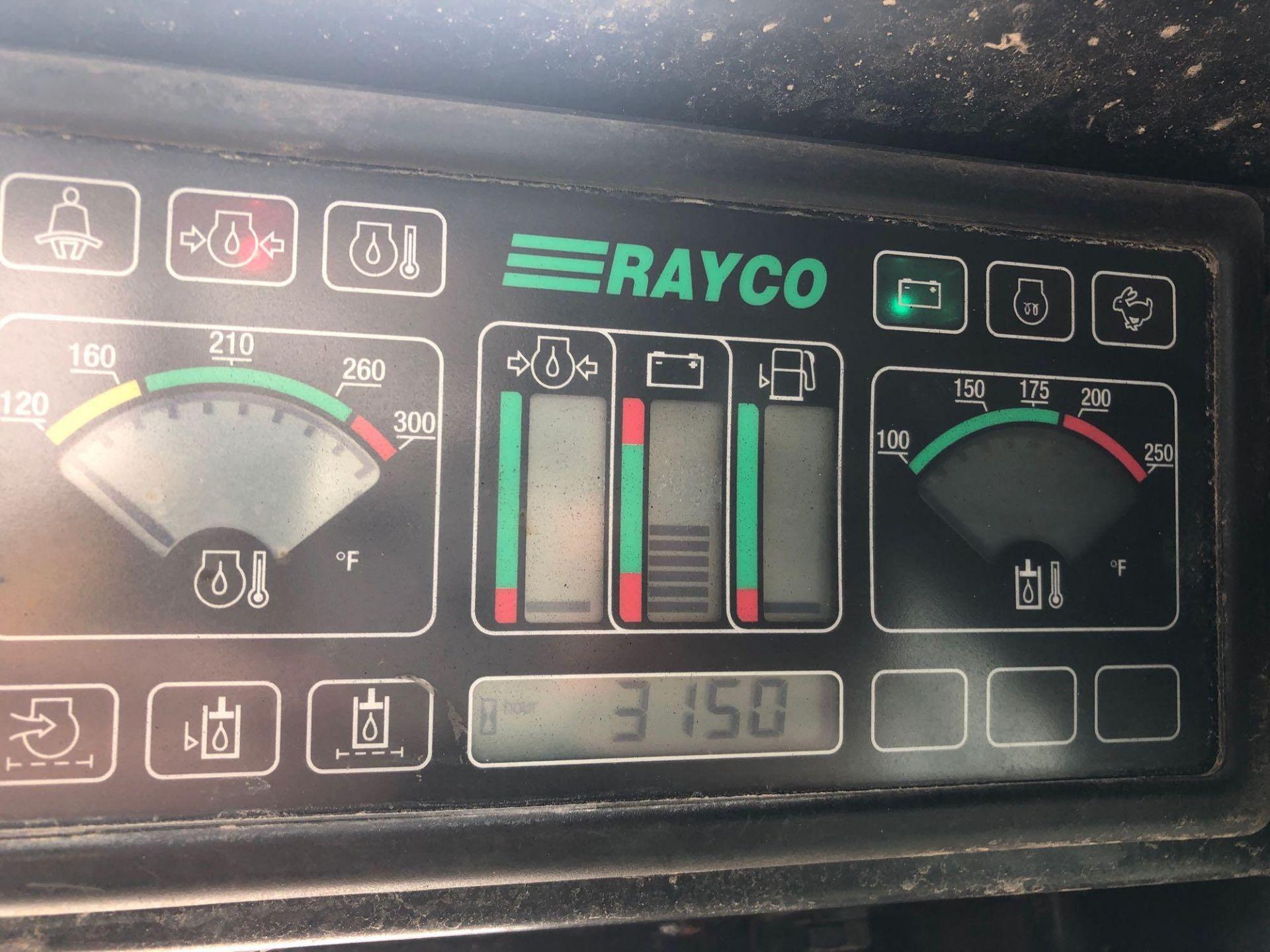 Lot 47B - RAYCO C87L SUPER CRAWLER SKIDSTEER, YANMAR DIESEL ENGINE, STEEL TRACK, FORESTRY CAGE
