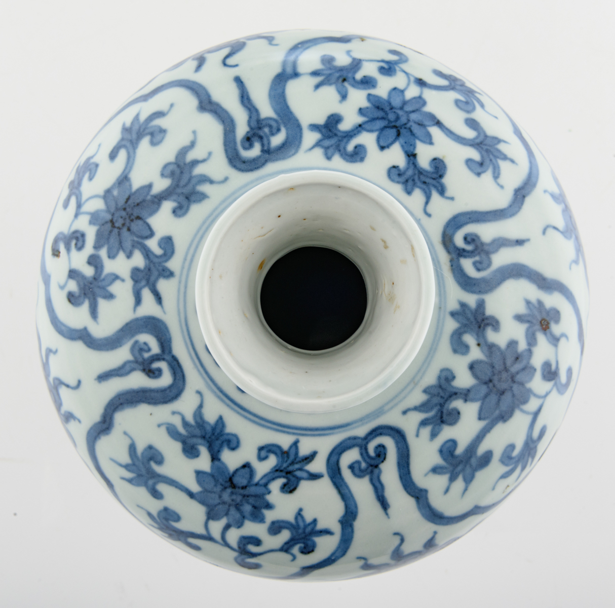 Lot 41 - A Chinese blue and white Ming type meiping vase, decorated with scholars and their servants standing