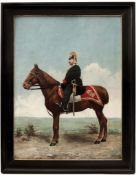 Portrait of a Dragoons Officer on his Horse