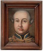 Portrait of an Officert in Blue Hussar Uniform