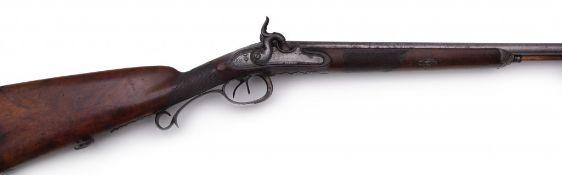 A Double-Barrelled Percussion Shotgun by Heinrich Daniel Anschütz<
