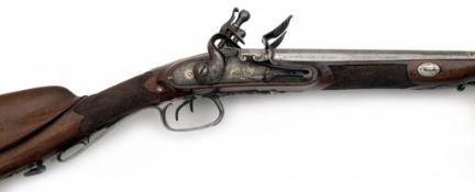 A Double-Barrelled Flintlock Shotgun
