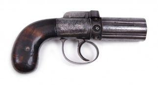 A six-shot pepperbox pistol, Ipswich