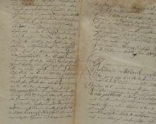Brief an den König von Sachsen,aus der Jahre 1809, um die jüdischen Bürger, 34,5 x 22 cm