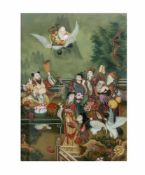 Unbekannter Künstler (frühes 20. Jh., China)Ankunft des Shou Xing - der Gott des langen Lebens,