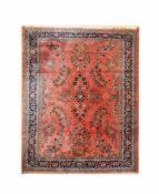 SaroughWolle auf Baumwolle, 385 cm x 239 cm, Rand und Fläche partiell mit Abnutzungen, eine Seite