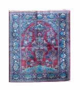 KeshanWolle auf Wolle, 200 cm x 134 cm, Gutachten vorhandenDieses Los wird in einer online-Auktion