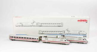 Märklin ICE Wagenset4-tlg., H0, 3370, Wechselstrom, mit Innenbeleuchtung, Analog, Originalkarton