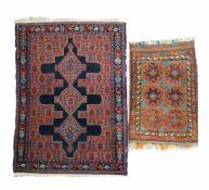 Paar OrientteppicheSenneh, Persien, Wolle auf Baumwolle, 143 cm x 107 cm und Belutsch,