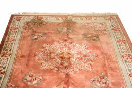 Asiatischer TeppichChina, Wolle auf Baumwolle, 344 cm x 249 cm, GebrauchsspurenDieses Los wird in