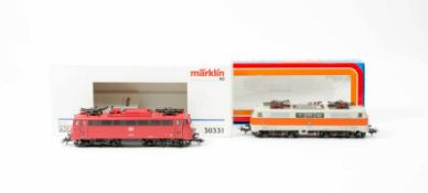 Märklin Paar Elektrolokomotiven BR 110 294-6 und BR 111 136-8H0, 30331 und 3155, Wechselstrom,