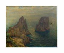 Max Usadel (1880 - 1950, Deutschland)Capri, Öl auf Leinwand, 52 cm x 65 cm, unten rechts