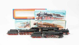 Märklin Konvolut Lokomotiven diverse BR4-tlg., H0, 3047, 3098, 3048 und 3085, Güterzuglokomotive mit