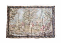 Gobelin mit JagdmotivFrankreich, 1. Hälfte 20. Jh., Wolle auf Wolle, 82 cm x 201 cmDieses Los wird