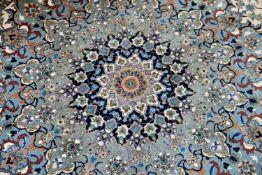 TäbrisIran, Korkwolle mit Seide auf Wolle, 410 cm x 297 cm, reinigungsbedürftig, eine Kante