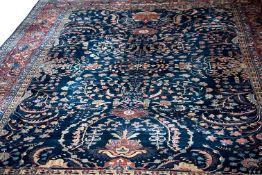 Amerikanischer SaroughIran, Wolle auf Baumwolle, florale Musterung, Kopie eines Teppich-