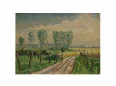 Reinhard Maria Bongartz (1914 Sonsbeck - 1994 Wassenberg) (F)Hochsommer am Niederrhein, Öl auf