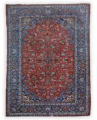 KeshanWolle auf Baumwolle, 350 cm x 213 cm, Kanten abgenutztDieses Los wird in einer online-