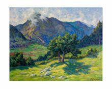 Fritz Zimmer (1874 Stolberg/Büsbach - 1950 Bad Wildungen)Nach dem Regen, Öl auf Leinwand, 73 cm x 93