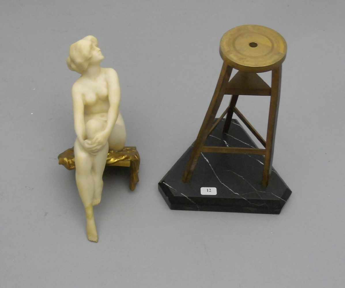 """Lot 12 - MARCUSE, RUDOLF (gelegentlich auch Markuse; Berlin 1878- ca. 1930), Skulptur: """"Das Modell -"""