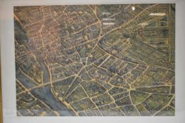 Colorierte Karte Paris um 1800- - -19.00 % buyer's premium on the hammer priceVAT margin scheme, VAT