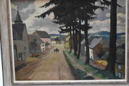 "Alfred Martin (1888-1950) ""Weg durch ein Dorf""- - -19.00 % buyer's premium on the hammer priceVAT"